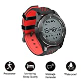 Smart Watch Waterproof IP68 Sport Watch Silicon Rubber Watchband eSmart Fitness Bracelet Support SMS/Altimeter/Pedometer/Barometer/UV /Sleep Monitor/Remote Camera/Calorie for Android iOS iPhone