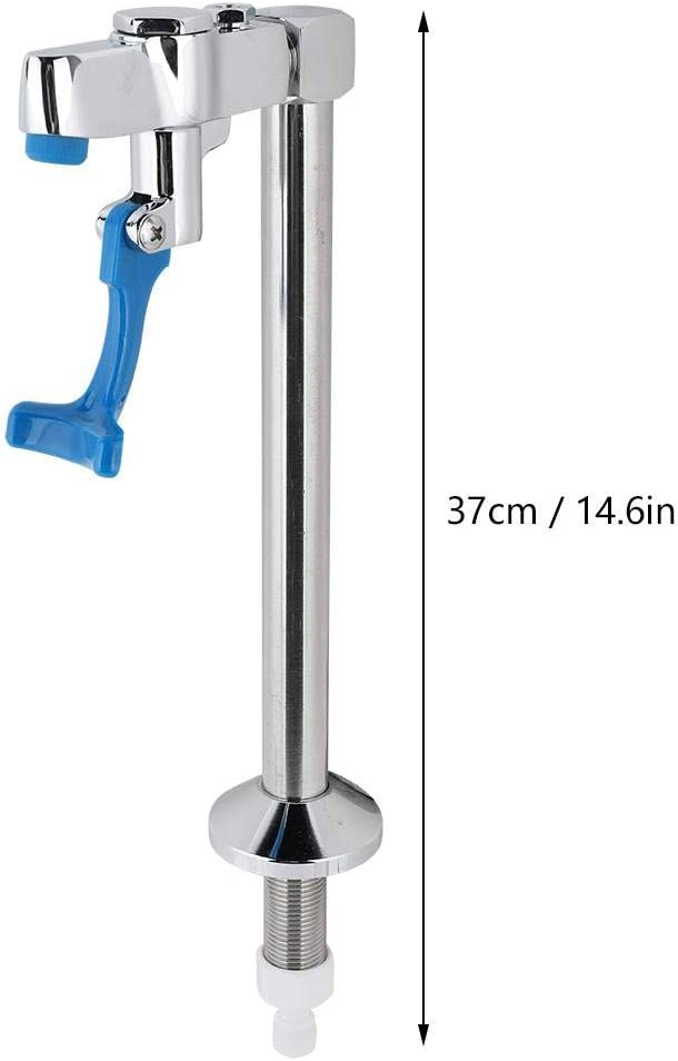 Table Height 26cm Push Cup Faucet,Pushing Cup 1//4in Straight Drinking Water Hose Interface Delay Faucet Net Tap Water Station Pedestal Glass Filler