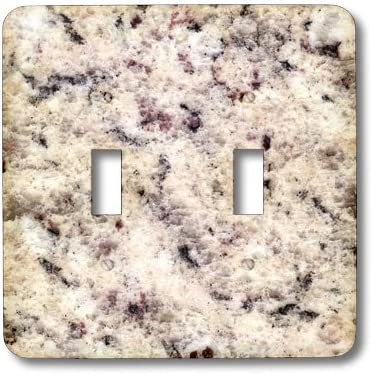3dRose LSP/_97968/_2 Bianco Arabesco Granite Print Double Toggle Switch