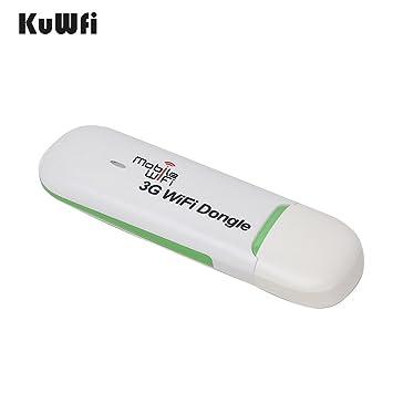 kuwfi desbloquear USB módem router WiFi + Smart funda para mini usb wifi hotspot Dongle Router Tarjeta de datos con Wi-Fi 3 G WIFI módem SIM ranura ...