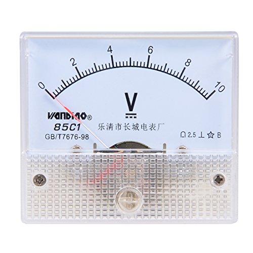 uxcell DC 0-10V Analog Panel Voltage Gauge Volt Meter 85C1 2.5% Error