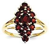 ICE CARATS 14k Yellow Gold Red Garnet Band Ring Size 7.00 Stone Gemstone
