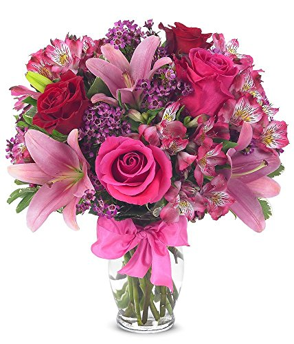 From You Flowers - Rose & Lily Celebration (Free Vase Included) Measures 14
