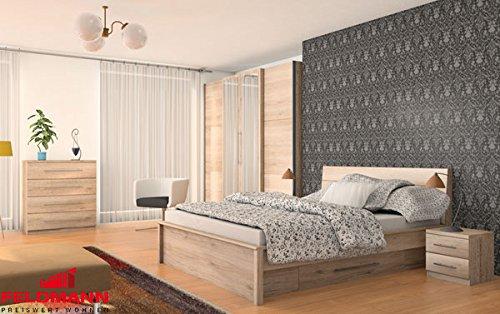 Schlafzimmer komplett 215373 4-teilig san remo eiche hell
