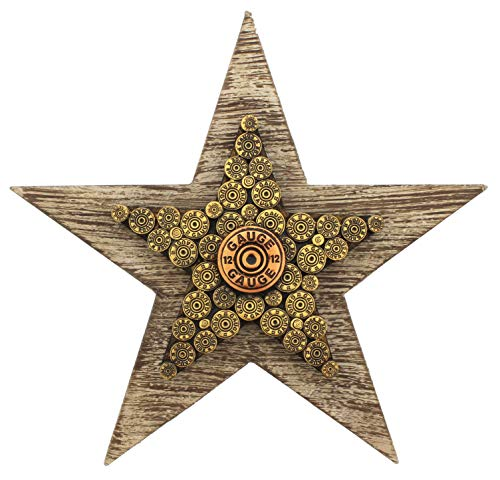 - Joy of Giving Shotgun Shell Star Wall Plaque - Wood & Resin 11.5