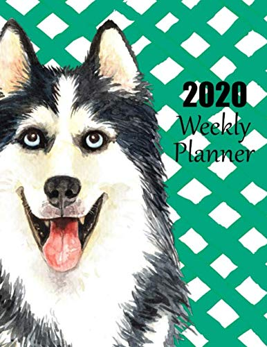 2020-Weekly-Planner-Adorable-Siberian-Husky-Dated-Planner-and-Organizer-for-Busy-Dog-Lovers-with-Monday-Start-Date-Two-Page-Weekly-and-Monthly–January-thru-December-Notes-on-Every-Page