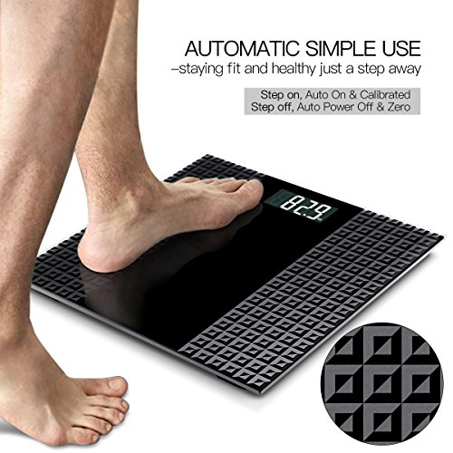 Digital Scale Display Seconds Consistent Accurate Reading, Matte Platform, 400 Pounds,
