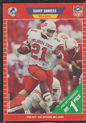 (1989 Pro Set Barry Sanders Lions Rookie Football Card #494)