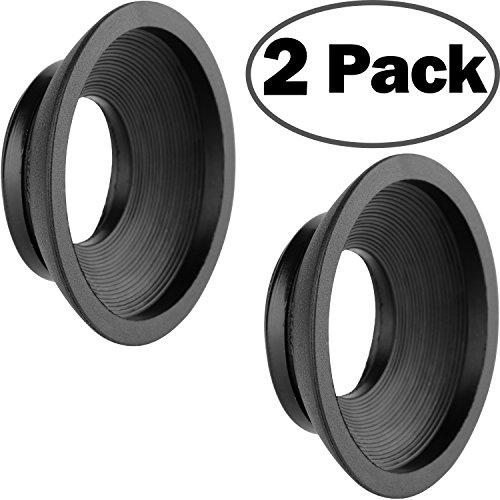 ChromLives Eyecup Eyepiece DK-19 DK-17 Rubber Viewfinder for Nikon D4S D5 D700 D800 D810 D850 (2P)