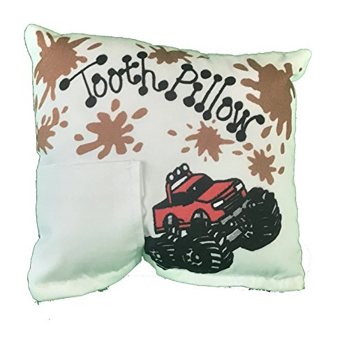 Monster Truck Tooth Fairy Pillow with Tooth Fairy Dust ()