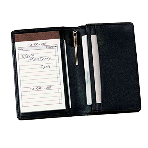 Deluxe Note Jotter Organizer (Royce Leather Deluxe Note Jotter Organizer,Black,One)