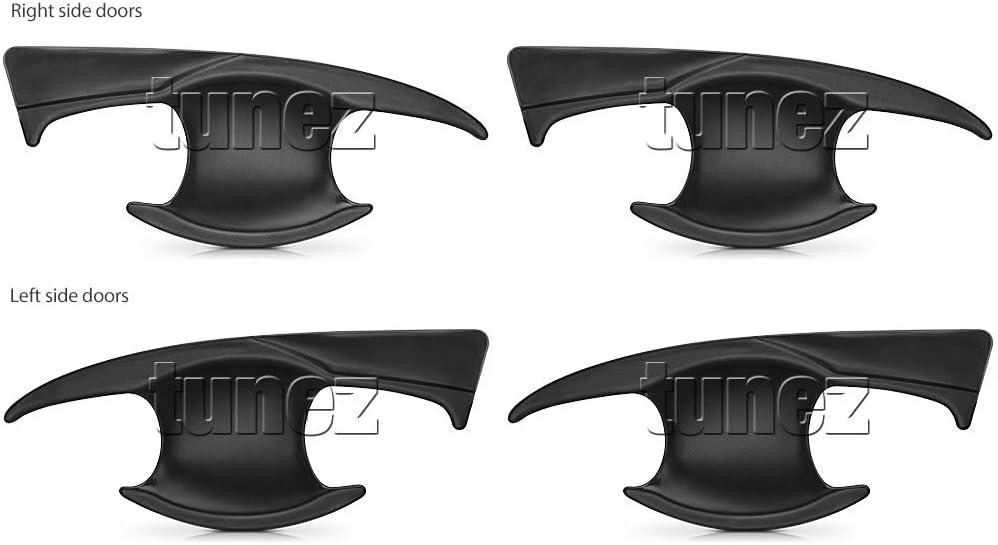 TUNEZ/® 4 Pieces Door Handle Guard Cover Trim for Hilux 8th Generation Door Handle AN120, AN130, GUN1 Year 2015-Present