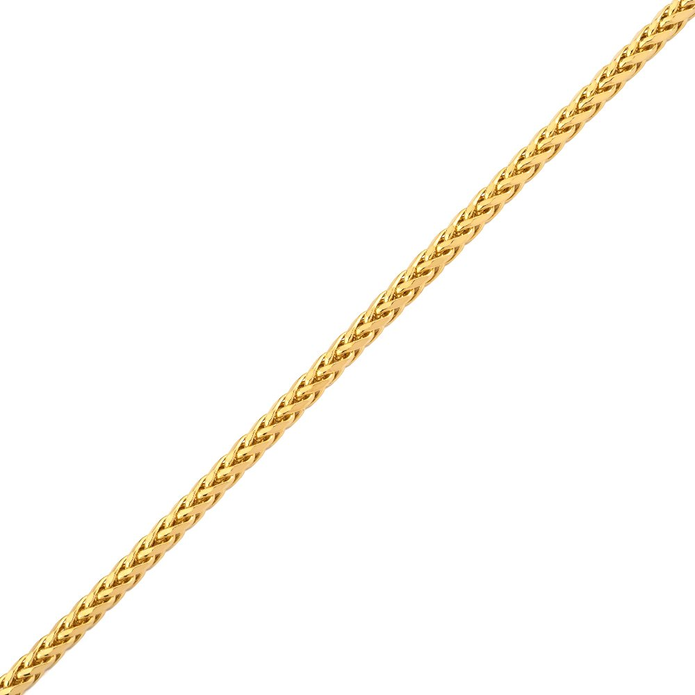 Mr. Bling 14K Yellow Gold 3mm Palm Chain Necklace with Lobster Lock (16'')