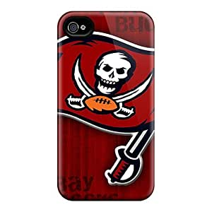 For Iphone 4/4s Tpu Phone Case Cover(tampa Bay Buccaneers)
