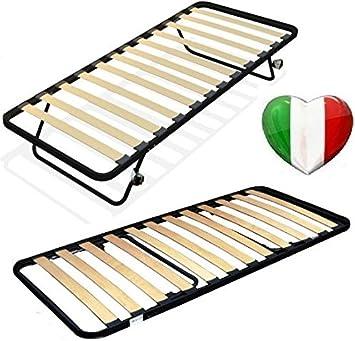 Somier de láminas plegable para espacios reducidos, 80 × 185 cm, cama individual
