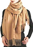 Cashmere Stole, Large Scarf, Shawl, 100% Cashmere, Gorgeous and Natural, Model K0101 (Camel)