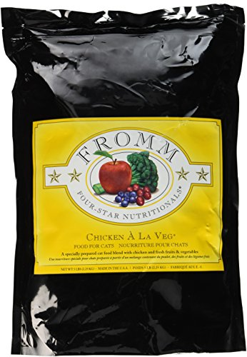 Fromm Four-Star Chicken a La Veg Dry Cat Food, 5-Pound Bag