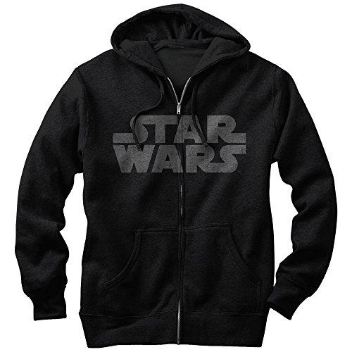 Fifth Sun Star Wars Simple Logo Mens Graphic Lightweight Zip Hoodie Simple Mens Hoodie