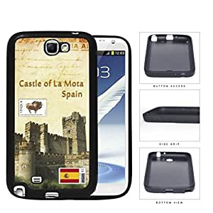 Castle Of La Mota Spain Postcard Rubber Silicone TPU Cell Phone Case Samsung Galaxy Note 2 II N7100