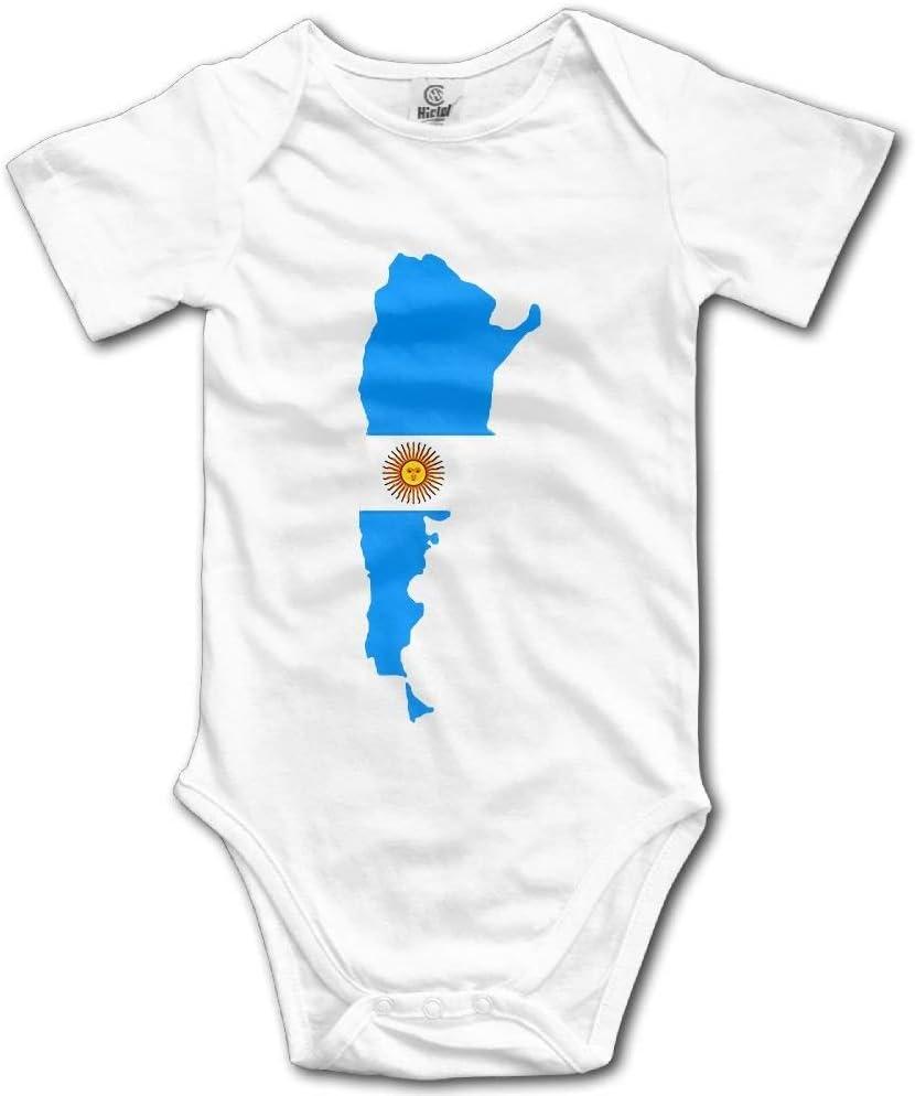 FAVIBES Bandera de Argentina Body de Manga Corta para bebés y niños recién Nacidos Baby OneSize para niños de 0 a 24 Meses Blanco