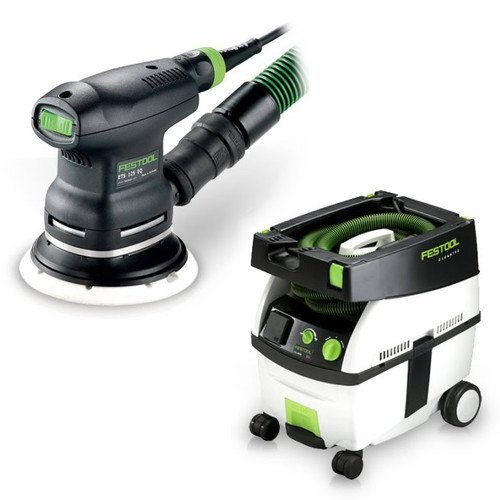 Festool PM571817 5 in. Random Orbital Finish Sander with CT MINI 2.6 Gallon Mobile Dust (Mini Dust Extractor Package)