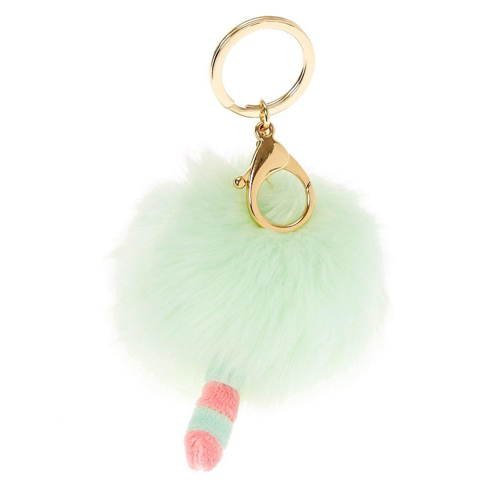 Claires Girls Pusheen Pom Pom Keychain - Green