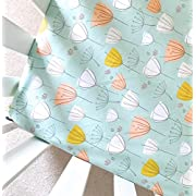 Sheets Made to Fit Stokke, Crib Sheet, Guava Lotus, 4moms Breeze, Boppy Cover, Changing Pad Cover in Apricot Frolic Mint Floral (Guava Lotus Travel Crib Sheet)