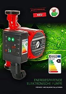 Hocheffizienzpumpe Umw/älzpumpe Heizungspumpe 25-60 130 elektronisch 6 Meter F/örderh/öhe geregelte Zirkulationspumpe