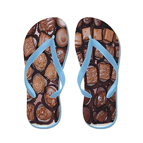 Cafepress Choklad Godis - Flip Flops, Roliga Rem Sandaler, Strand Sandaler Caribbean Blue