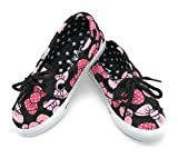 EASY21 Baby Toddler Girs Canvas Casual Sneaker Shoes,Black Bow82,11 M US Little Kid