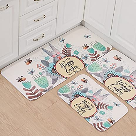 Bath Mat, Essort Cartoon Kitten Pattern Waterproof Bathroom Rug And Non  Slip Living Room Mat