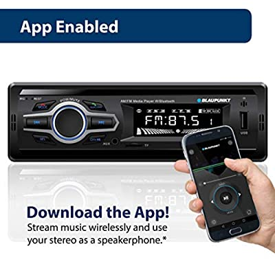 Blaupunkt Toronto AM/FM Media Receiver - Bluetooth, Easy Installation, Remote Control Included, SD Card, Aux Input, Handsfree (TRT1049)
