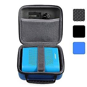 BOVKE for Bose Soundlink Color Wireless Bluetooth Speaker Soundlink Color II UE ROLL 360 Hard EVA Shockproof Carrying Case Storage Travel Case Bag Protective Pouch Box, Blue