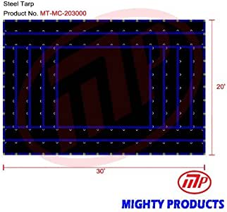 20' x 30' MIGHTY Truck Tarp - Machinery Tarp - Heavy Duty, Industrial Grade
