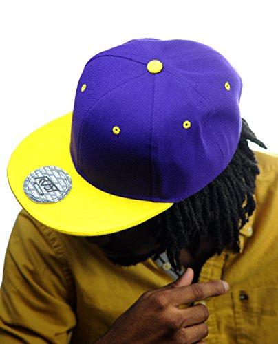 NYFASHION101 Plain Blank Flat Bill Adjustable Snapback Cap Hat