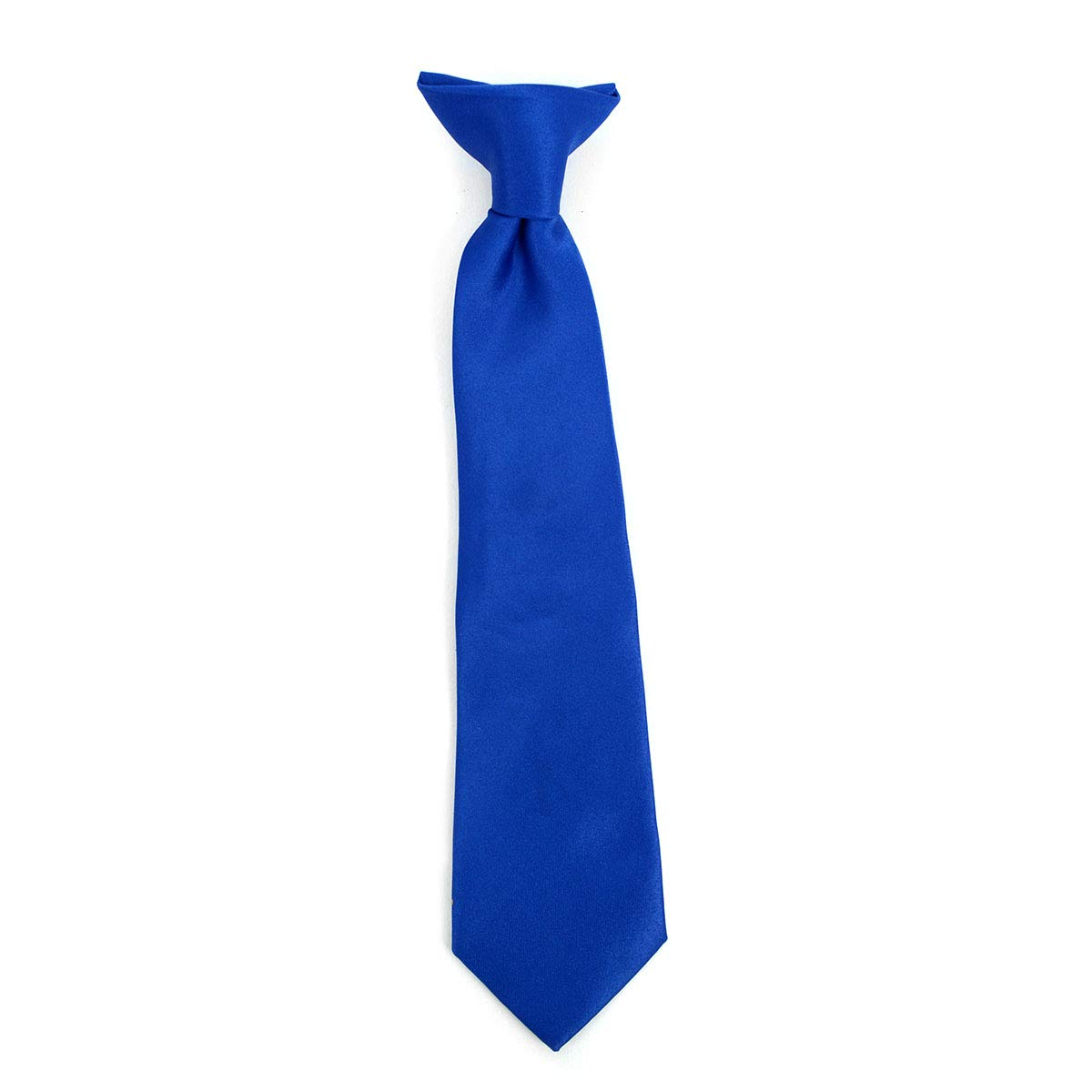 Boy's Solid Clip on Tie (14 inch, Royal Blue) by boxed-gifts