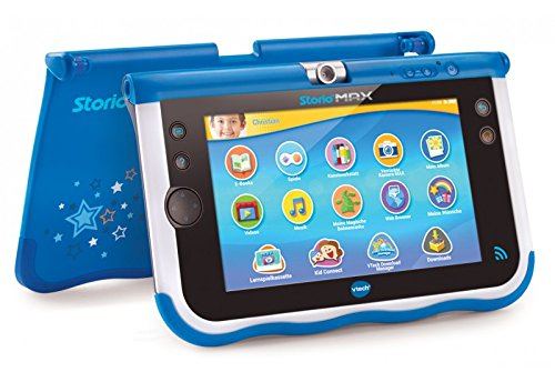 , Botones, Sensor, Negro, Azul, Color Blanco, Pol/ímero de Litio, Ni/ño//ni/ña electr/ónica para ni/ños VTech Storio MAX 7 Multifunctional Gadget Multifunctional Gadget, MicroSD TransFlash