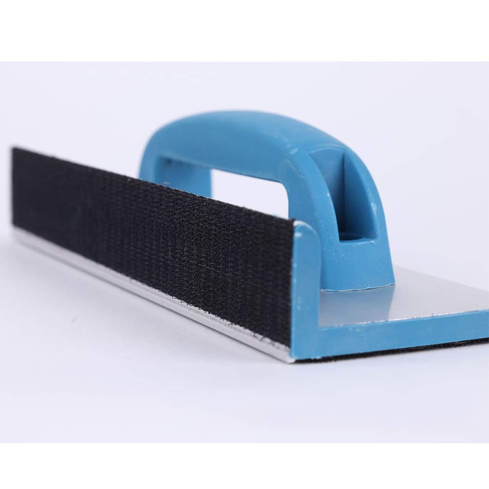 Short Hemobllo Sandpaper Holder Right Angle with Hand Grip Manual Sandpaper Frame Polished Tools for Walls Carpentry Polishing Sanding Tools Abrasive Tools