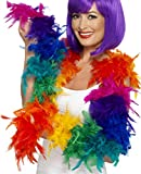 Ladies Hen Night Fancy 80's Hippy Groovy Party Feather Boa Multi Color Pack Of 3