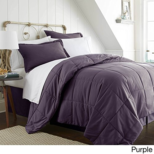 ienjoy Home IEH-MULTI-TWIN-PURPLE 8Piece Home Collection Bed In A Bag, Twin, Purple