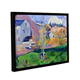 ArtWall Paul Gauguin's Brittany Landscape The David Mill Gallery-Wrapped Floater-Framed Canvas, 36 x 48