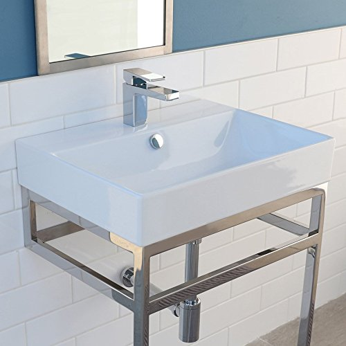 "Wall-mount, vanity top or self-rimming porcelain lavatory with an overflow. 01 - one faucet hole, W: 24"", D: 18"", H: 7 ()"
