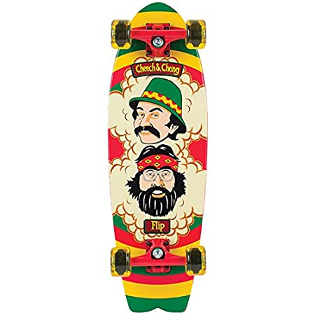 Flip Cheech and Chong Rasta Cruzer Complete Skateboard - Rasta - 8.8in x 27.7in