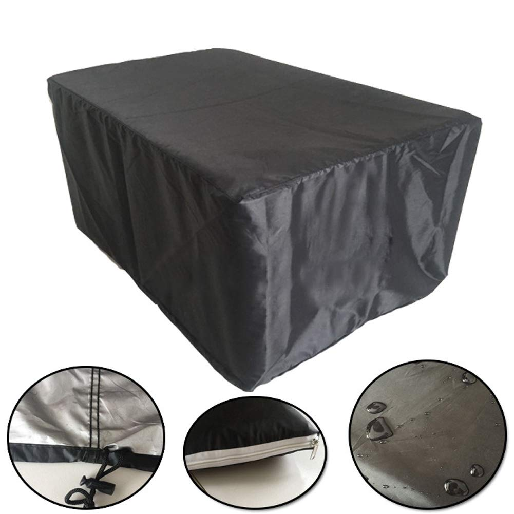 Ragdoll50 Rectangular Table Cover, Oxford UV Waterproof Garden Furniture Cover Patio Table Set Furniture Protector Black 2 Sizes(48.43 48.43 29.13)
