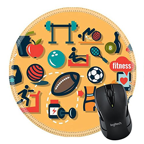 MSD Natural Rubber Mousepad IMAGE ID 32727270 Fitness and Sport icons for web and mobile