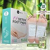 Bamboo Vinegar Foot Pads (20 Pack) – 100% Natural Rose Plus Lavender –
