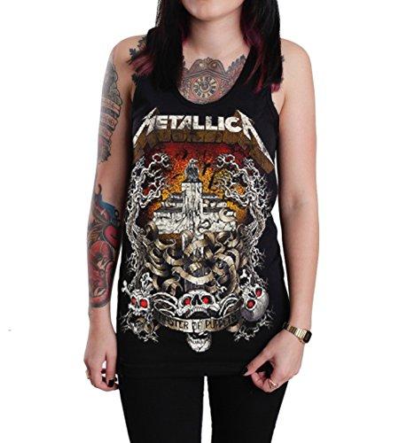 Metallica Men's Black & White Logo T-Shirt - S to XXL
