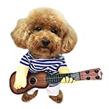 NACOCO Pet Guitar Costume Dog Costumes Cat Halloween Christmas Cosplay Party Funny Outfit Clothes (M)