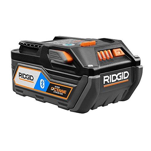 Ridgid 18V Bluetooth 6.0Ah HYPER OCTANE Battery Pack, AC8400806 (18 Volt Battery Ridgid)