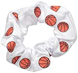 """EMC Sports """"Basketball"""" Dazzle Hair Scrunch, White, One Size fits All"""